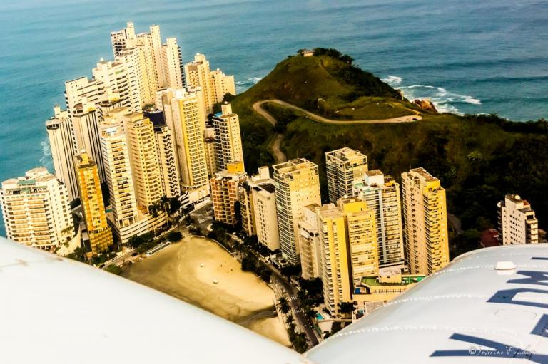 A l'approche de Santos, Brésil