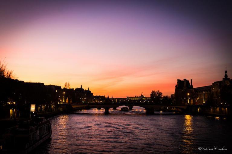 Coucher de soleil sur le Pont du Caroussel